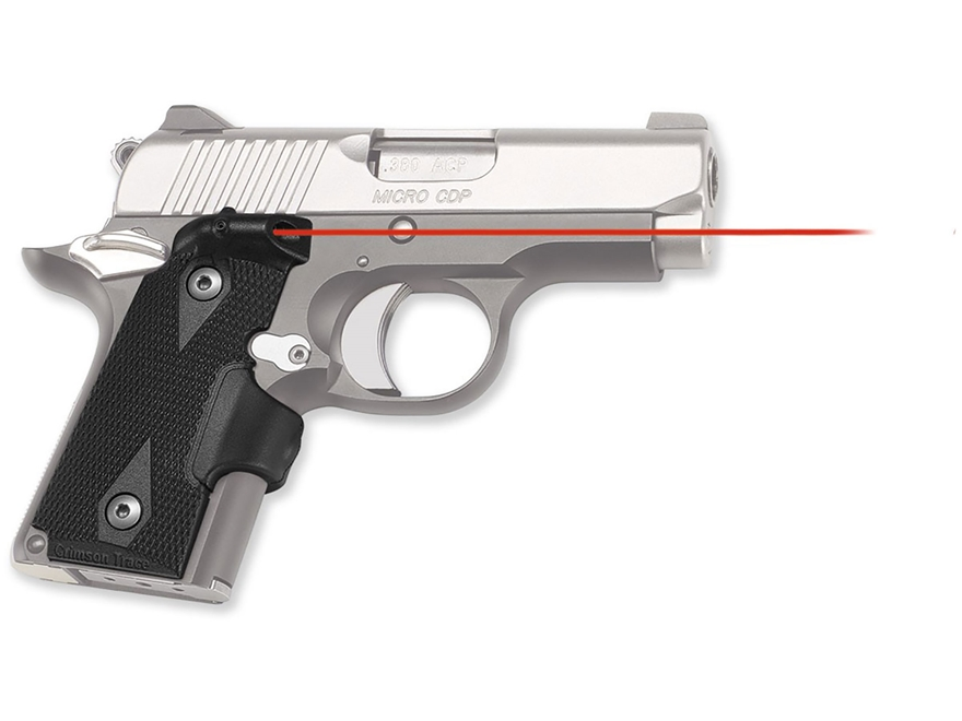 Crimson Trace Lasergrips Red Laser Kimber Micro 380 Polymer Black