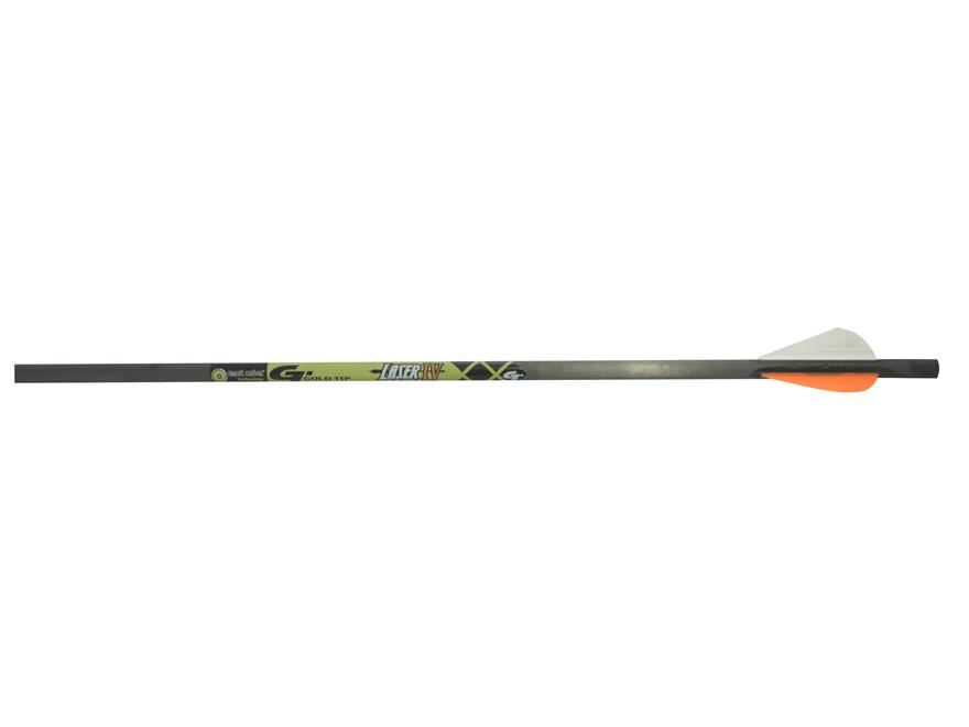 """Gold Tip Laser IV Pro Series Carbon Crossbow Bolt 2"""" Vanes Black Pack of 6"""