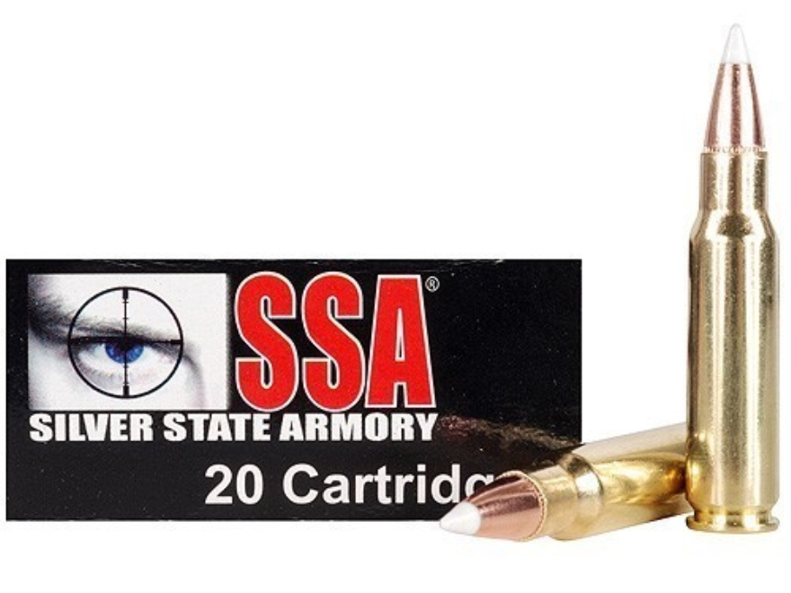Silver State Armory Ammunition 6.8mm Remington SPC 110 Grain Nosler AccuBond Box of 20