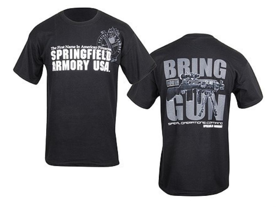 "Springfield Armory SOCOM Bring Enough Gun T-Shirt Short Sleeve Cotton Black XL (48"")"