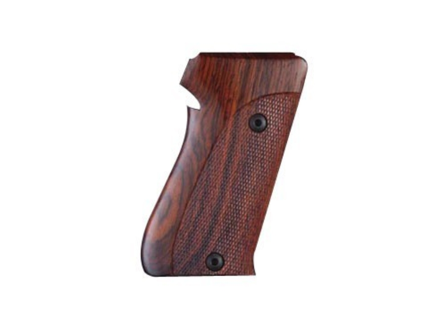 Hogue Fancy Hardwood Grips Sig Sauer P220 Bottom Magazine Release Checkered