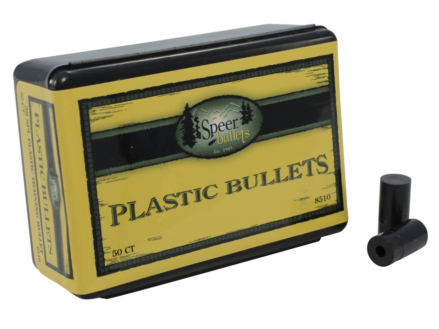 Speer Plastic Bullets 38 Caliber (357 to 358 Diameter) Box of 50
