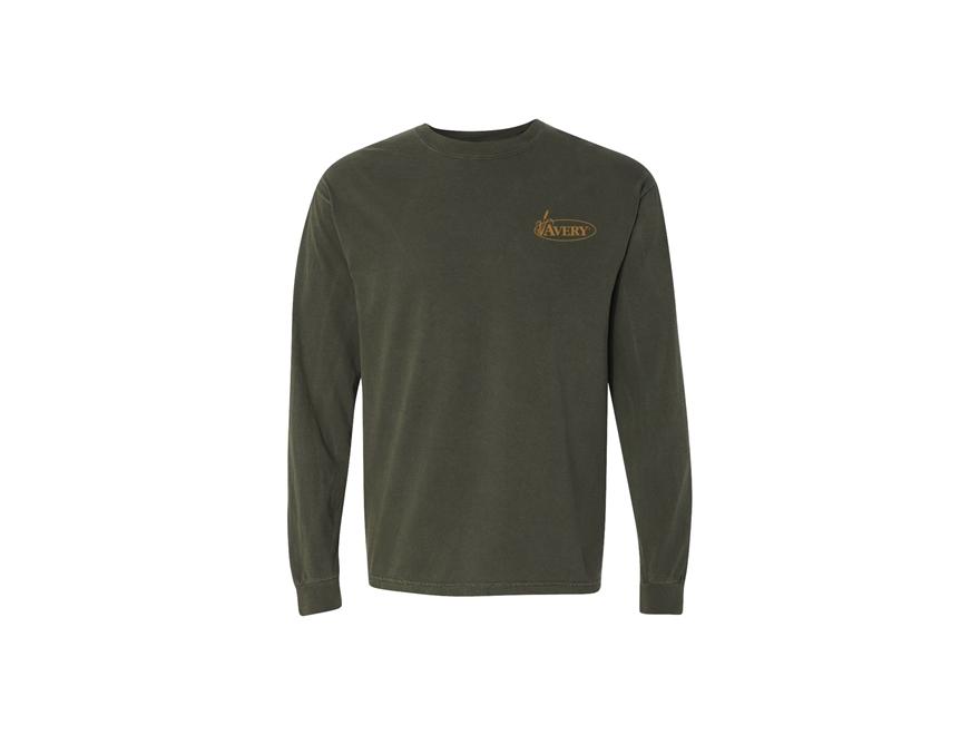 Avery Men's Signature Logo T-Shirt Long Sleeve Cotton