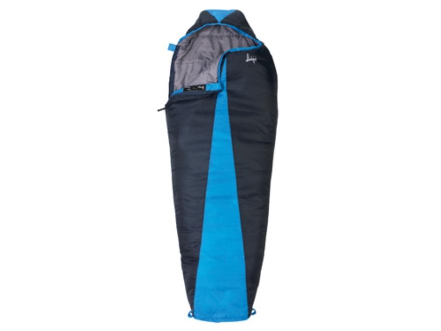 "Slumberjack Latitude 40 Degree Tall Mummy Sleeping Bag 34"" x 86"" Polyester Navy and Blue"