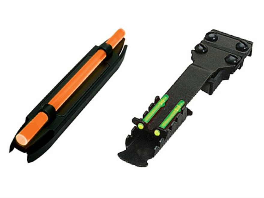 HIVIZ Sight Set Mossberg, Winchester Shotguns Fiber Optic Green Rear, Interchangeable R...