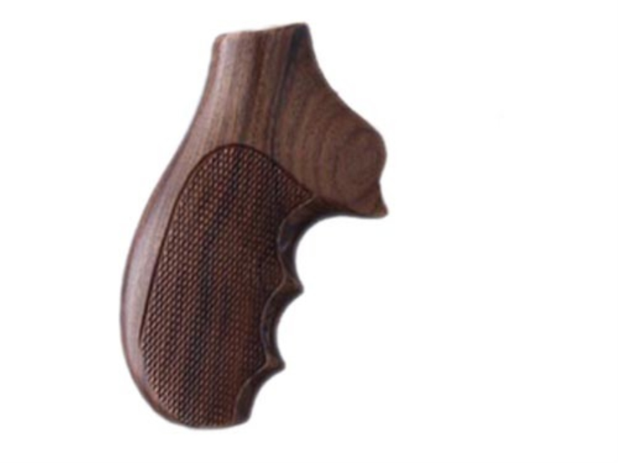 Hogue Fancy Hardwood Grips with Finger Grooves Ruger SP101 Checkered