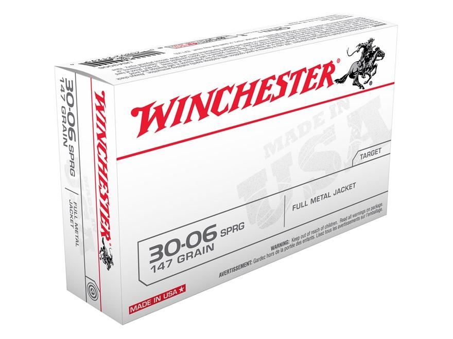 Winchester USA Ammunition 30-06 Springfield 147 Grain Full Metal Jacket