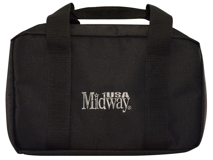 MidwayUSA Tactical Two Pistol Case Black