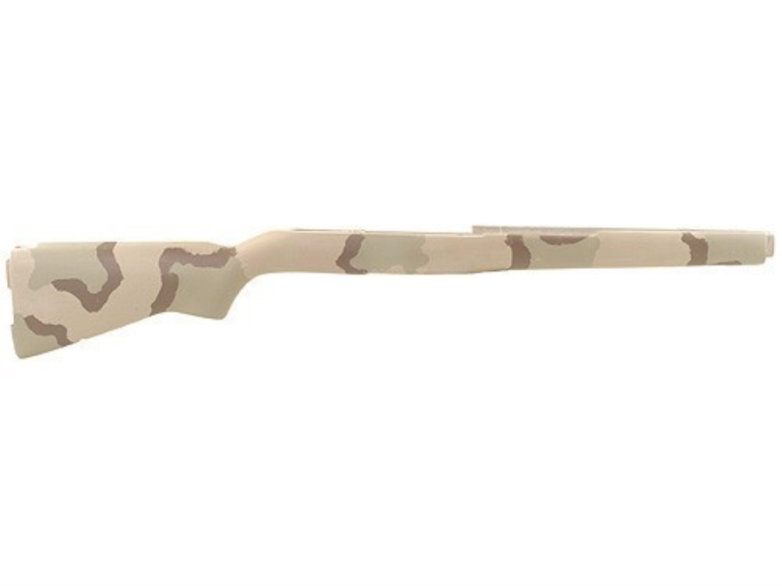 McMillan M1A Match Rifle Stock Fiberglass Molded-In Sand Camo Semi-Inletted