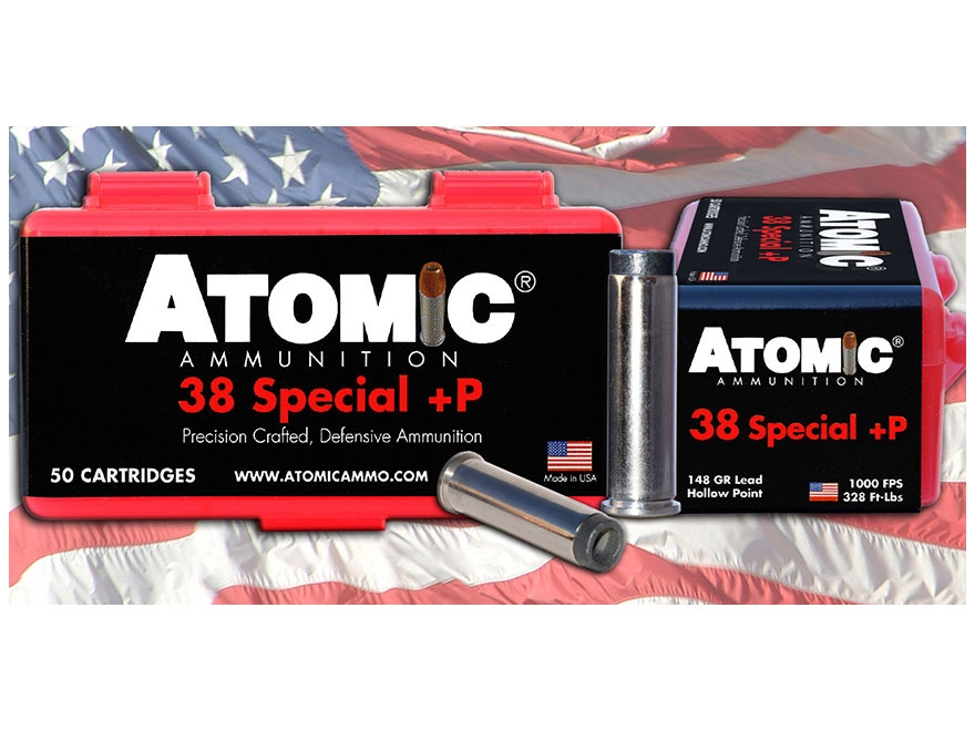 Atomic Ammunition 38 Special +P 148 Grain Lead Hollow Point Box of 50