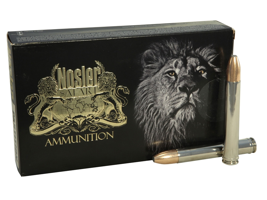 Nosler Safari Ammunition 458 Winchester Magnum 500 Grain Partition Box of 20