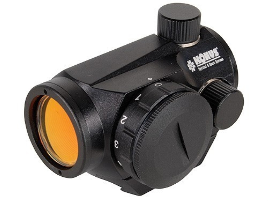 Konus Sight-Pro Atomic Red Dot Sight 1x 20mm 4 MOA Red and Green Dot with Integral Weav...