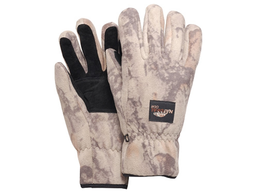Natural Gear Windproof Fleece Gloves Polyester