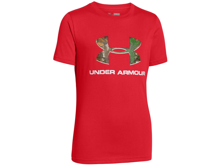 Under armour youth camo logo short sleeve t shirt upc for Under armour swim shirt youth