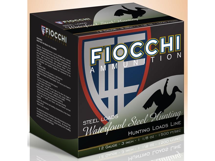 "Fiocchi Speed Steel Ammunition 12 Gauge 3"" 1-1/8 oz #3 Non-Toxic Steel Shot Box of 25"