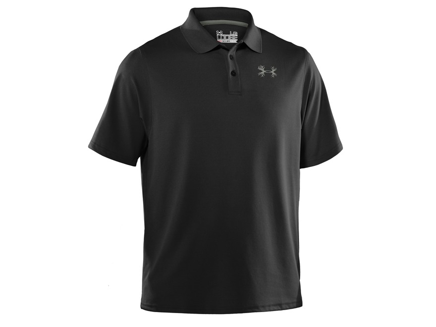 Under armour men 39 s ua antler performance polo shirt short for Men s polyester polo shirts