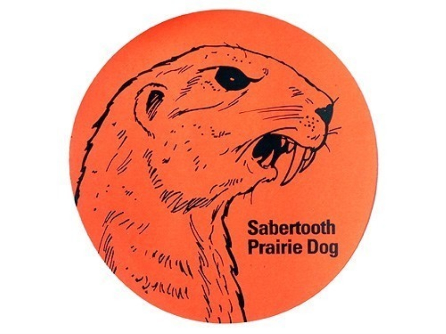 "Lyman Fluorescent Animal Target Sabertooth Prairie Dog 3"" Package of 25"