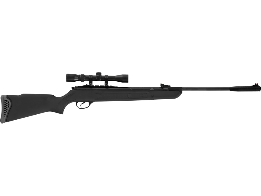 Hatsan Model 125 Break Barrel Air Rifle Pellet Synthetic Stock Black Barrel with Scope ...