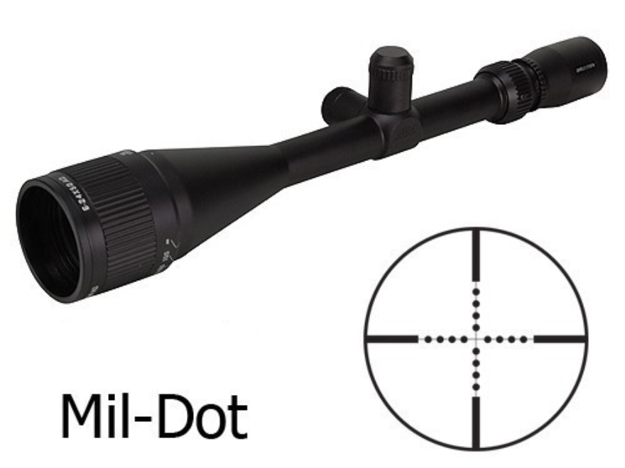 Brunton NRA Sports Optics Target Series Rifle Scope 6-24x 50mm Adjustable Objective Mil...