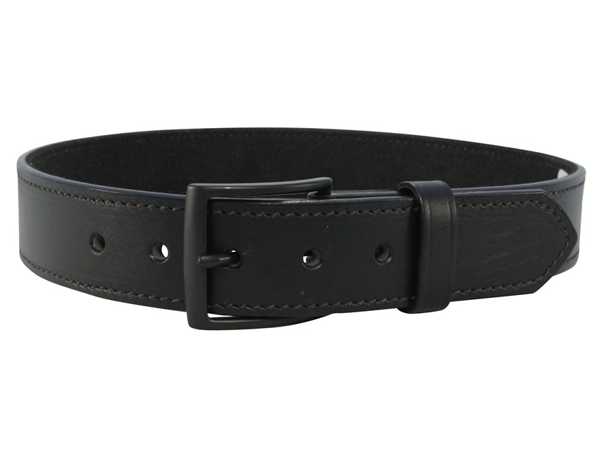 "DeSantis E25 Belt 1.5"" Steel Buckle Leather Black"