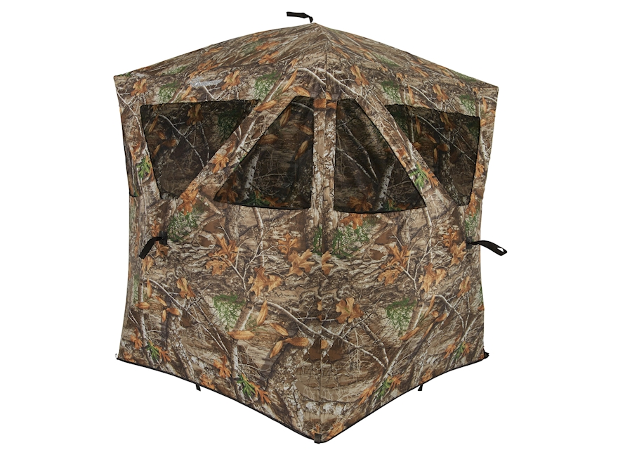 """Ameristep Care Taker Ground Blind 66"""" x 55"""" x 55"""" Polyester Realtree Edge Camo"""