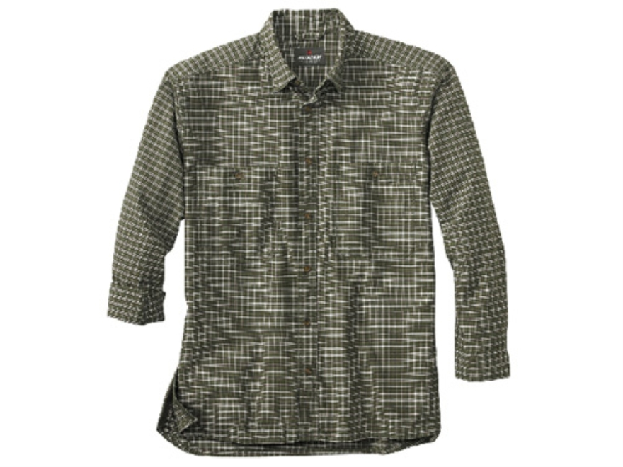 Woolrich Elite Oxford Concealed Carry Long Sleeve Shirt Cotton Loden Medium