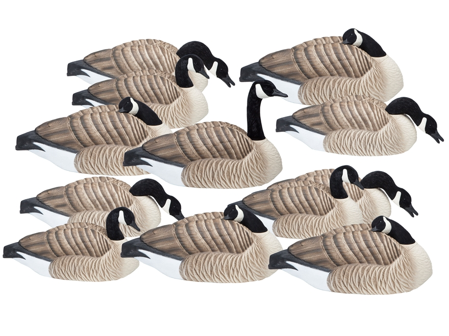 Final Approach Last Pass HD Honker Shell Canada Goose Decoy Pack of 12