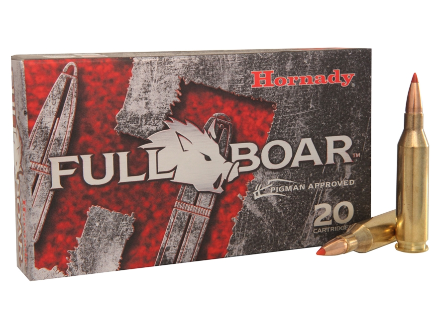 Hornady Full Boar Ammunition 243 Winchester 80 Grain GMX Boat Tail Lead-Free Box of 20