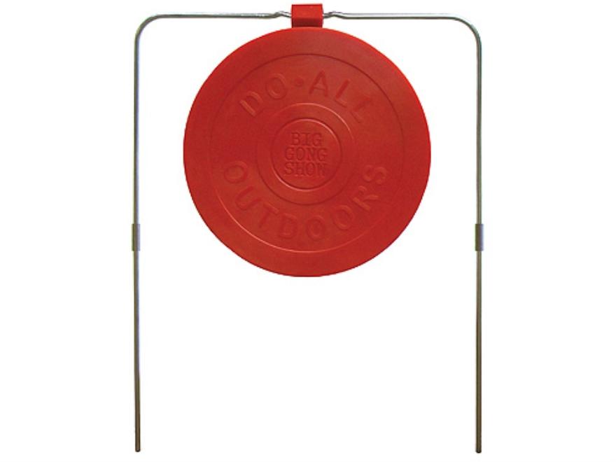 "Do-All Impact Seal Self Healing Big Gong Show Reactive Target 9"" Ballistic Polymer Red"