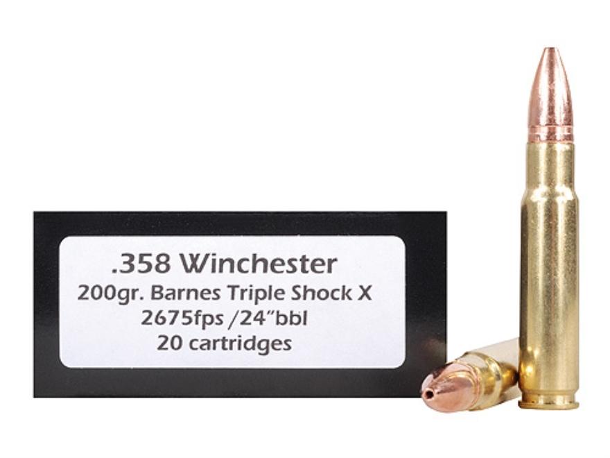 Doubletap Ammunition 358 Winchester 200 Grain Barnes Triple-Shock X Bullet Lead-Free Bo...