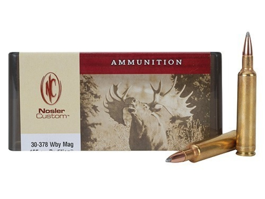 Nosler Custom Ammunition 30-378 Weatherby Magnum 165 Grain Partition Spitzer Box of 20