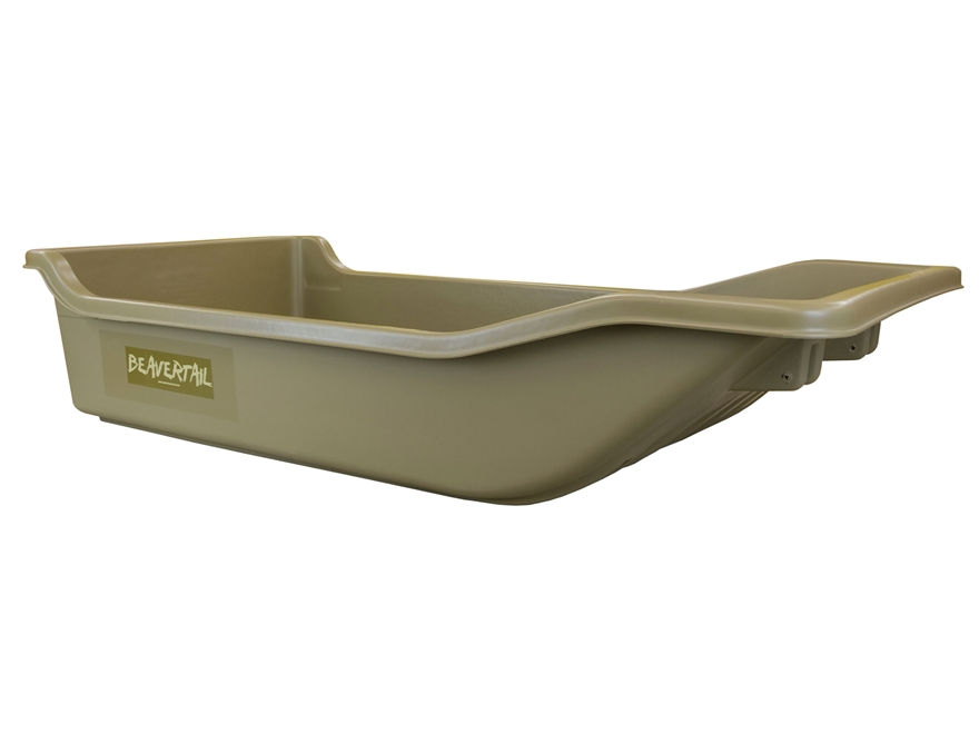 Beavertail Wild Sled Decoy Sled Polyethylene Marsh Brown Large