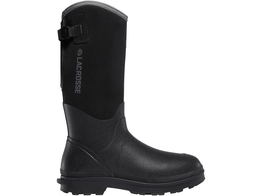 "LaCrosse 5mm Alpha Range 14"" Waterproof Insulated Work Boots Rubber Over Neoprene Black..."