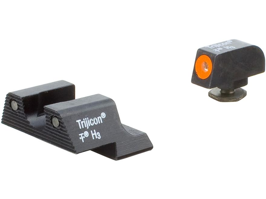 Trijicon HD Night Sight Set Glock 42, 43 Steel Matte 3-Dot Tritium Green with Front Dot...
