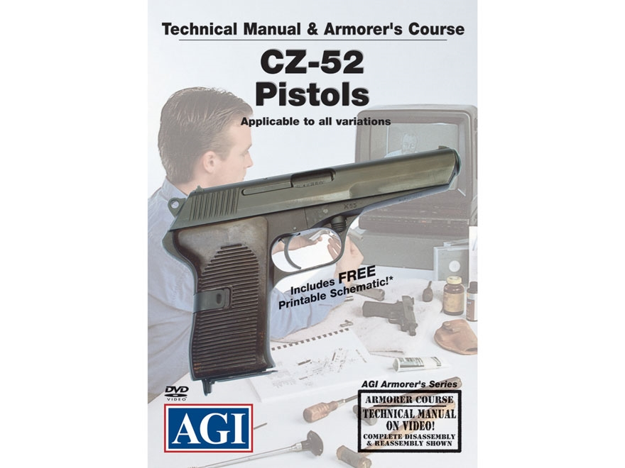 """American Gunsmithing Institute (AGI) Technical Manual & Armorer's Course Video """"CZ-52 P..."""