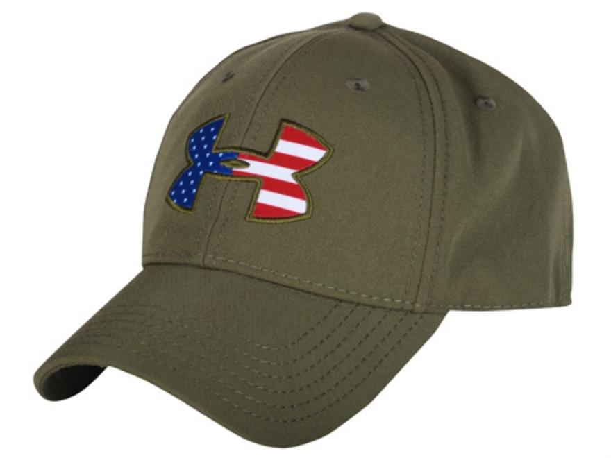 under armour american flag. under armour usa flag logo cap polyester marine od green american