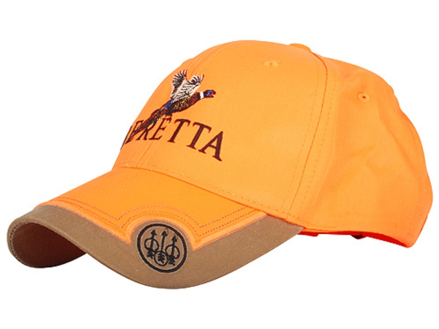 Beretta Embroidered Cap Cotton Tan and Blaze Orange