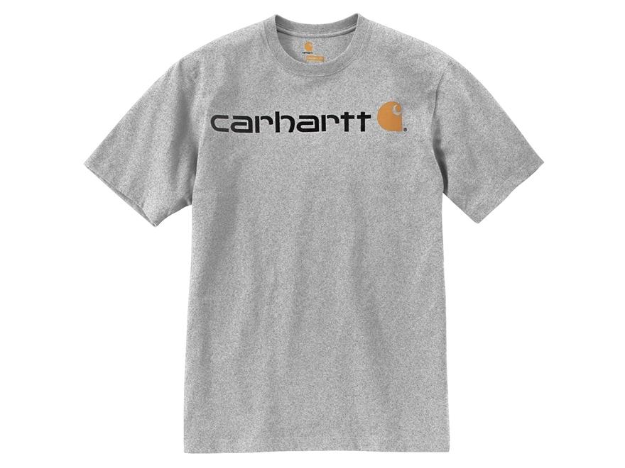 Carhartt Men's Signature Logo T-Shirt Short Sleeve Cotton