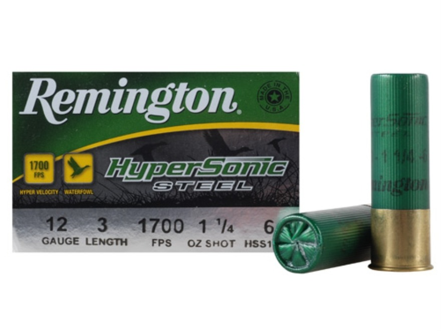 "Remington HyperSonic Ammunition 12 Gauge 3"" 1-1/4 oz #6 Non-Toxic Steel Shot Case of 25..."