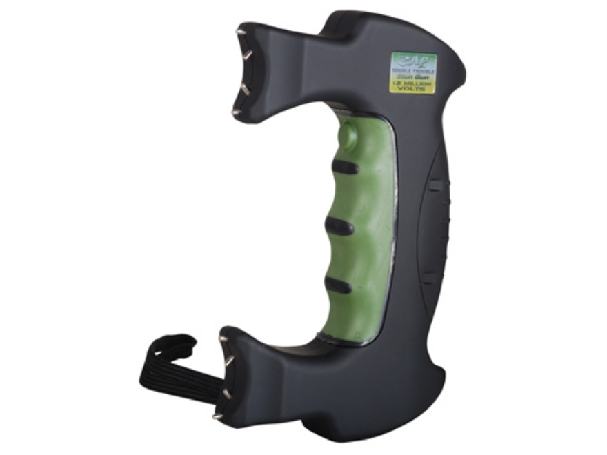 ZAP Double Trouble 1,200,000 Volt Stun Gun with Batteries (3 CR123A Lithium) Polymer Black