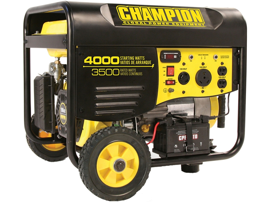 Champion 3500/4000 Watt Gas Powered Generator with Remote Kit