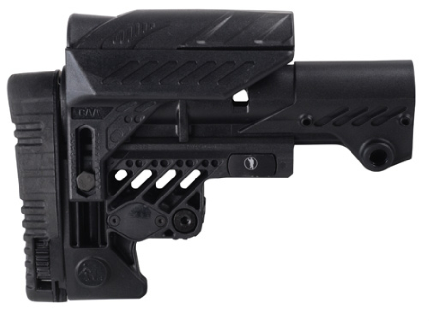 Command Arms Sniper Sharp Shooting Buttstock with Adjustable Cheek Rest 10-Position Col...
