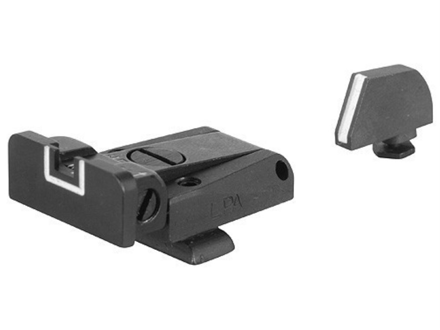 LPA SPR Sight Set Glock 17, 19, 20, 21, 22, 23, 25, 26, 27, 28, 29, 30, 31, 32 Steel Wh...