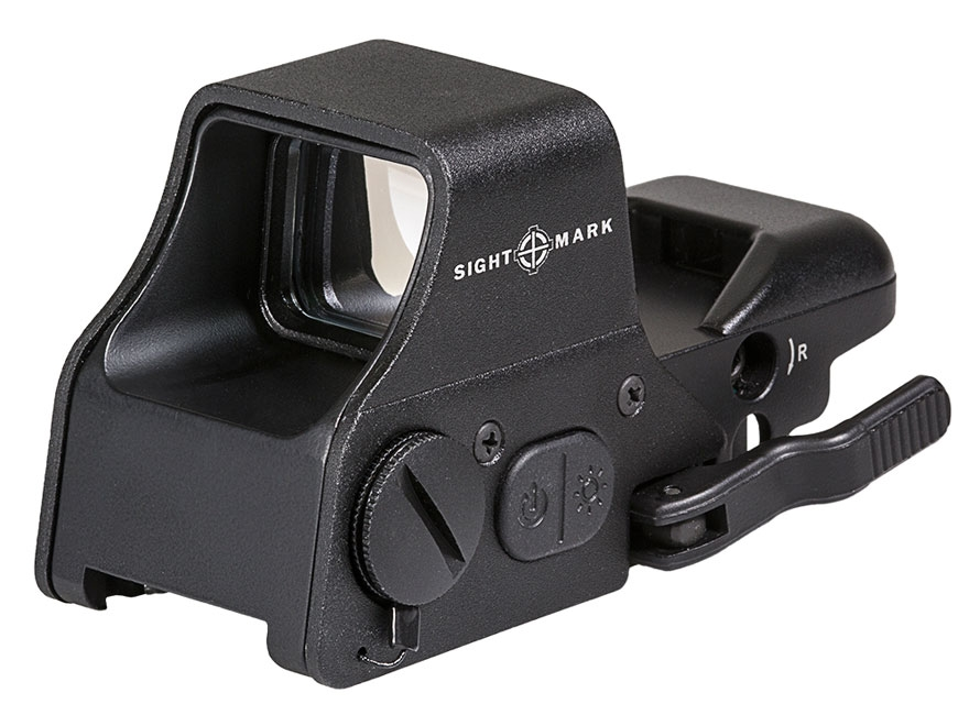 Sightmark Ultra Shot Plus Red Dot Sight 1x Selectable Reticle with Quick Detachable Wea...