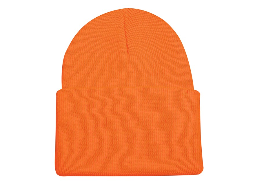 Outdoor Cap Knit Beanie Polyester Blaze Orange