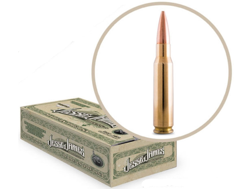 Jesse James TML Ammunition 308 Winchester 168 Grain Hollow Point Boat Tail Box of 20