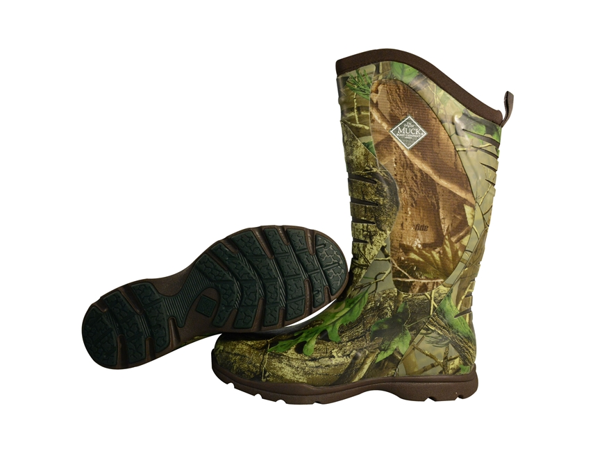 "Muck Pursuit Stealth Cool 15"" Uninsulated Hunting Boots Rubber and Nylon Realtree APG C..."