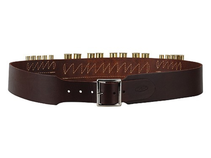 "Hunter Cartridge Belt Combo 2-1/2"" 45 Caliber 10 Loops and 12 Gauge 8 Loops Leather Ant..."