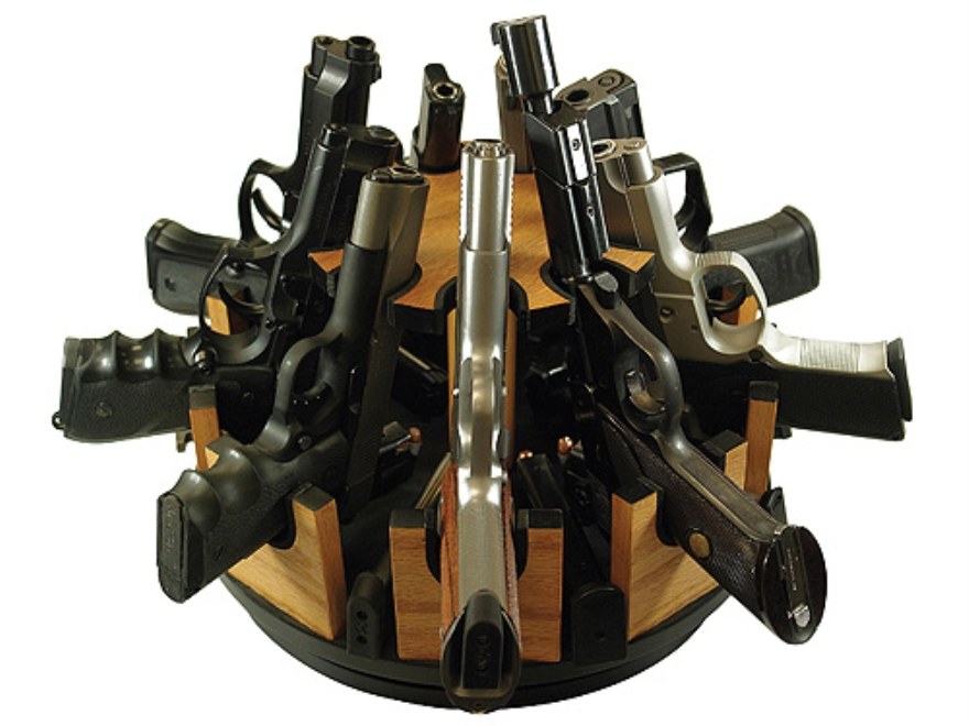 Hyskore 9 Gun Pistol Carousel Foam Padded Wood Mpn 30053
