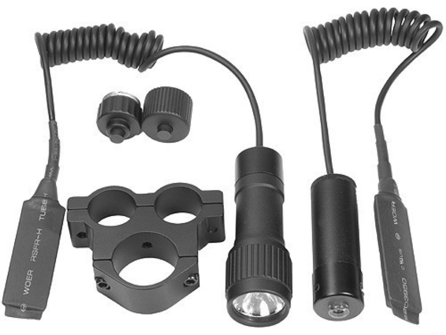 Barska Tactical Laser Sight and Flashlight Kit with Rifle Scope Mount Matte